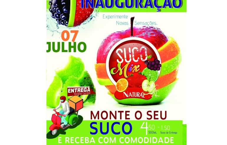 noticia Dia 07 Inauguração do quiosque do suco natural