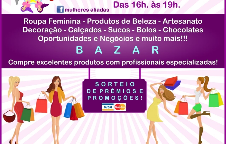noticia Dia 15/07 - Bazar da Aliadas Shop