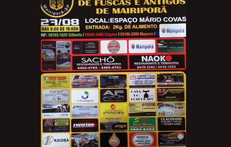noticia Dia 27/08 em Mairiporã acontece o 4º Encontro de fuscas e antigos