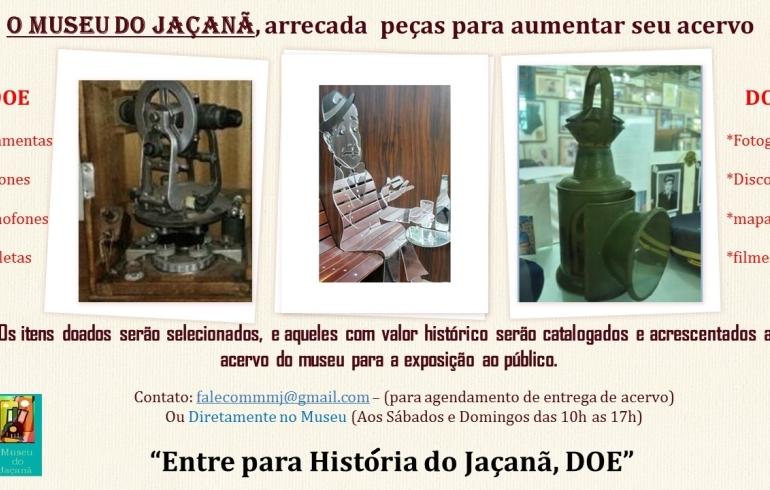 noticia Doe peças antigas e entre para a História do Jaçanã.