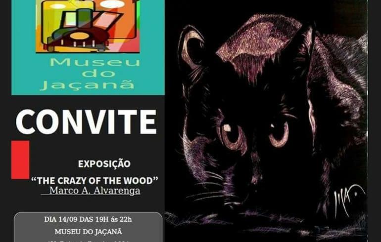 """noticia EXPOSIÇÃO: """"The Crazy of the wood"""" de Marco A. Alvarenga estreia dia 14/09 no Museu do Jaçanã SP"""