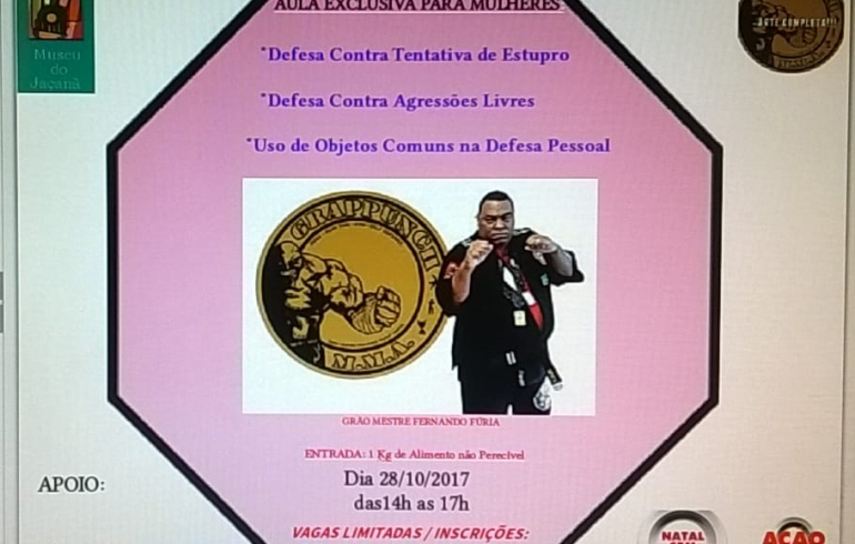 noticia Aula de defesa contra tentativa de Estupro será no próximo sábado dia 28 de outubro no Jaçanã