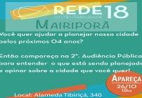 noticia Convite a população de Mairiporã : Venha participar da Audiência Pública do PPA