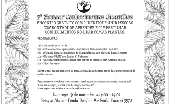 noticia No próximo domingo acontecerá o 5º Semear Conhecimentos de Guarulhos!
