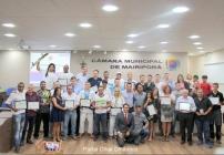 noticia 25 Atletas de diversas modalidades foram homenageados na Câmara Municipal de Mairiporã