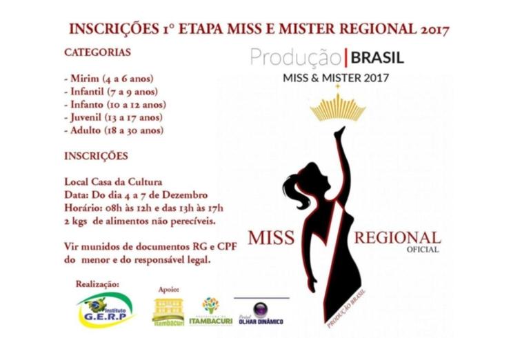 noticia Foi dada a largada para o Miss e Mister Brasil  2018