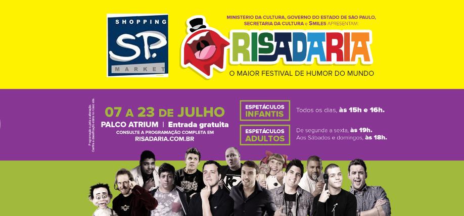 noticia Shopping SP Market recebe a 8ª edição do Festival RISADARIA