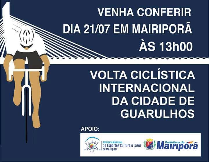 noticia Mairiporã receberá Volta Ciclística Internacional no próximo dia 21