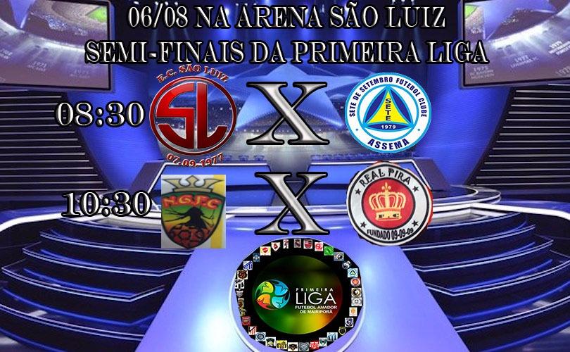 noticia 06/08 - Na Arena São Luiz - Semi-finais da Primeira Liga de Futebol de Mairiporã