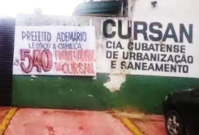 noticia Em Santos: Ex-funcionários da Cursan estão sem emprego, indenização e o que comer
