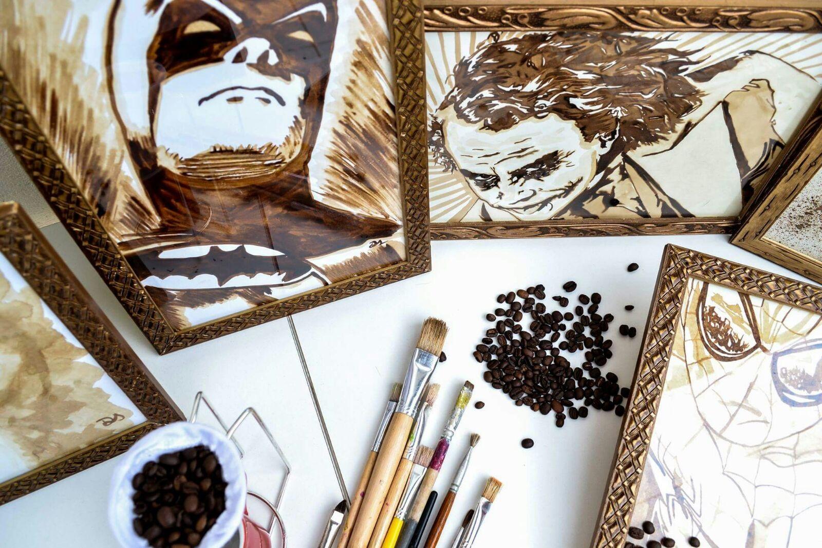 noticia Pintura em café - Coleção Feng Shui Vol 2 – Vernissage por Débora Santos
