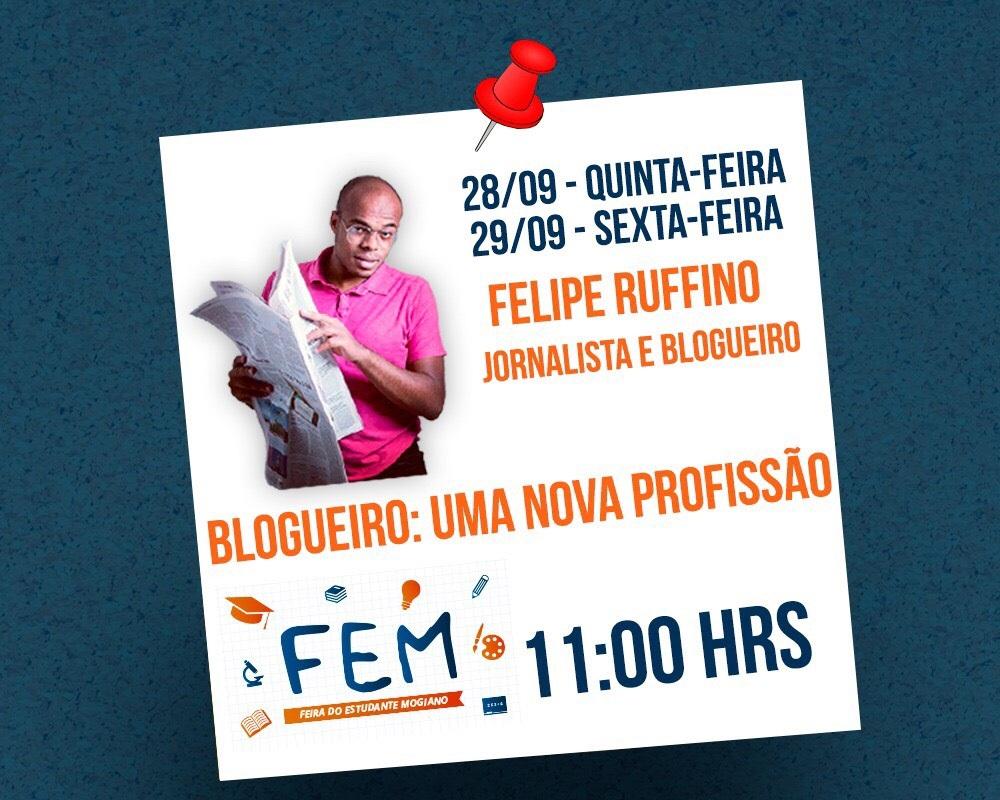 noticia Feira do Estudante Mogiano terá como convidado especial Felipe Ruffino