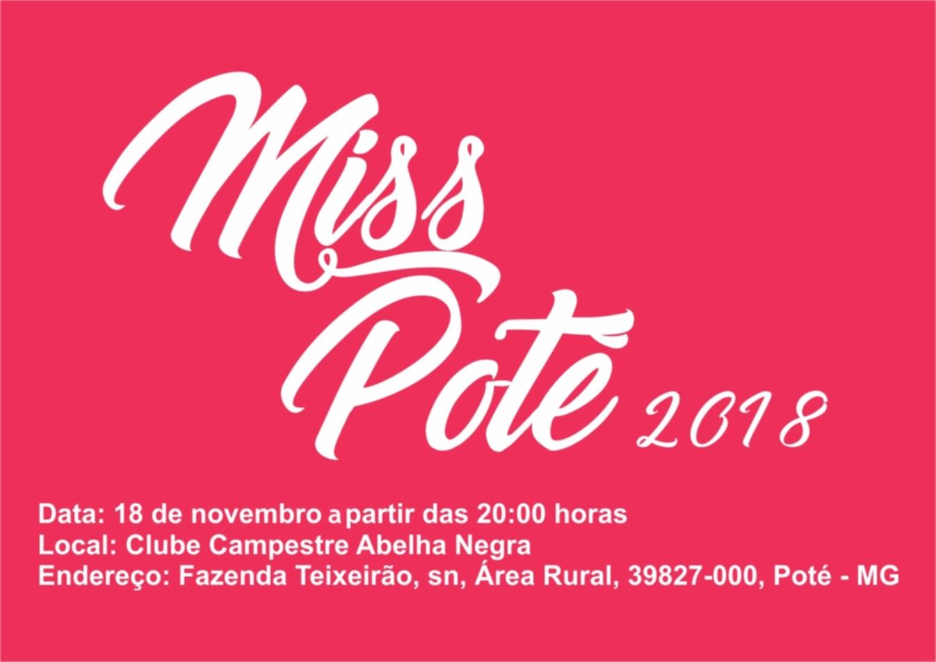 noticia Venha se inscrever para concorrer á Miss e Mister Poté
