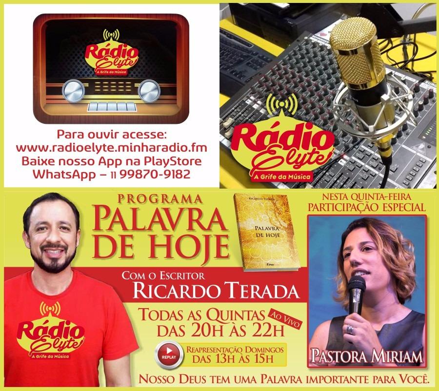 noticia Programa: Palavra de Hoje - Toda Quinta-feira, às 20 horas com Ricardo Terada